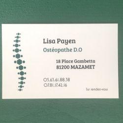 Cabinet libéral ou paramédical - Ostéopathie - Lisa PAYEN, Ostéopathe D.O
