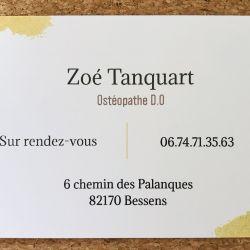 Tanquart Zoé - Ostéopathe